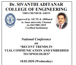 """National Conference on """"Recent Trends in VLSI, Communication and Embedded Technologies"""""""